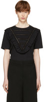 Stella McCartney Black Lace & Ruffle T-Shirt