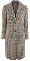 Topshop Bonded heritage check coat