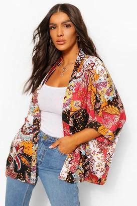boohoo Paisley Print Kimono