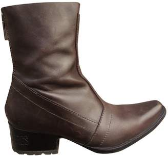 Dirk Bikkembergs Brown Leather Ankle boots