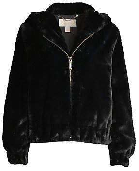 MICHAEL Michael Kors Women's Faux Fur Hooded Jacket