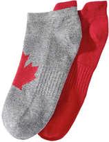 Joe Fresh Kid Girls' 2 Pack Canada Athletic Socks, Grey (Size 3-6)