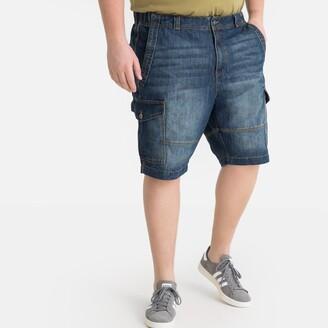 La Redoute Collections Plus Denim Combat Bermuda Shorts