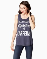 Charming charlie Mascara and Caffeine Strappy Tank