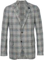 Lardini checked two button blazer - men - Silk/Polyamide/Polyester/Wool - 46