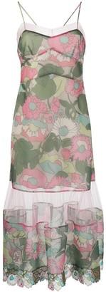 Fendi Floral Print Mesh Dress