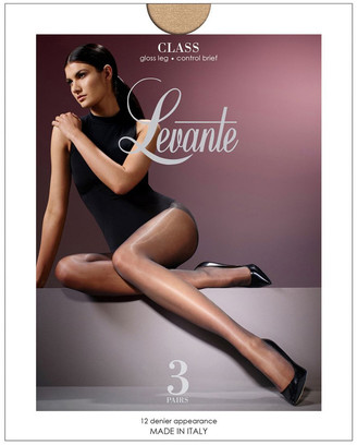 Levante Class Control Pantyhose 3 Pair Pack Tan