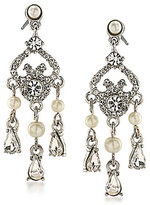 Carolee 21 Club Faux-Pearl Mini Chandelier Earrings