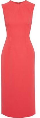 Emilia Wickstead Erlinda Pintucked Stretch-crepe Midi Dress