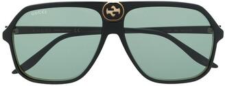 Gucci Large Aviator Frame Sunglasses