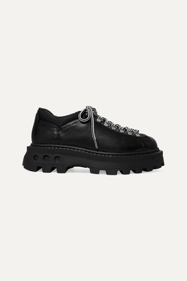 Simon Miller Low Tracker Shell-trimmed Leather Boots - Black