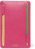 Smythson Panama Textured-leather Wallet - Fuchsia