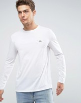 Lacoste Long Sleeve Top Small Logo Regular Fit in White
