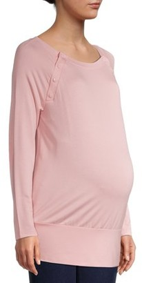 Time and Tru Maternity Sweatshirt with Raglan Long Sleeves (Available in Multiple Colors)