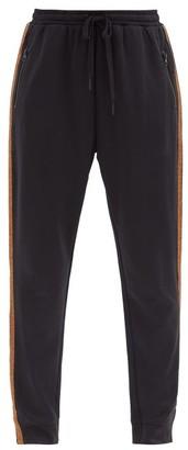 The Upside Kodi Drawstring-tie Jersey Track Pants - Black Print