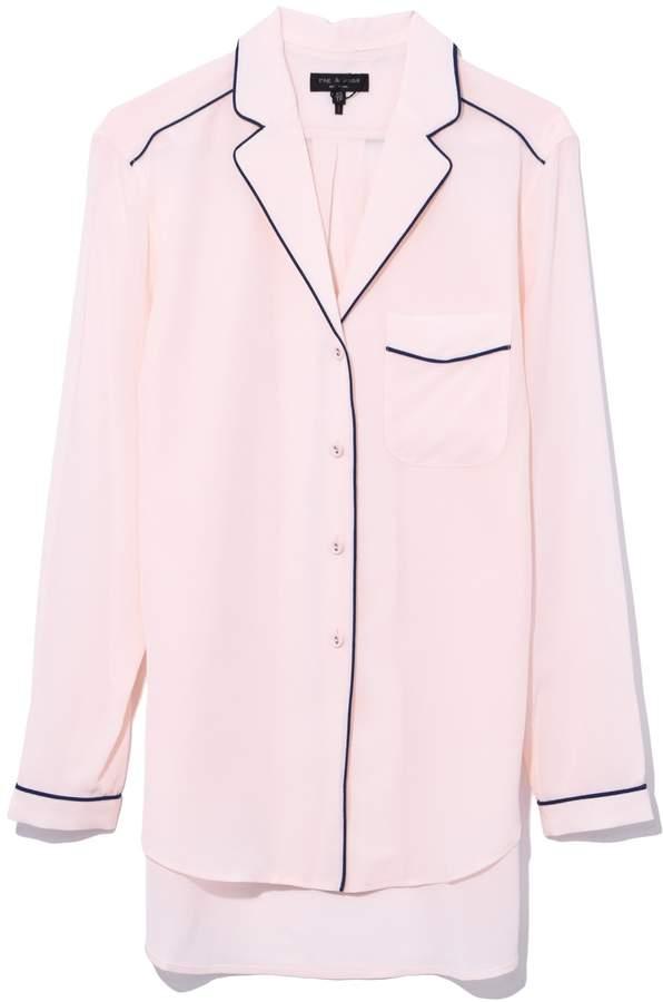 Rag & Bone Alyse Shirt in Baby Pink