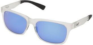Maui Jim Boardwalk (Matte Crystal/Blue Hawaii) Fashion Sunglasses