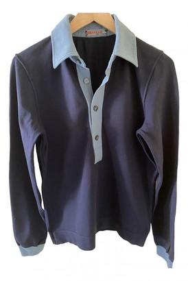 Prada Blue Polyester Polo shirts
