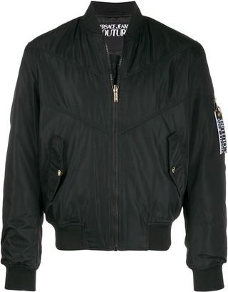Versace Etichetta Label bomber jacket