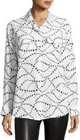 Equipment Star-Pattern Signature Silk Shirt, Multi Pattern
