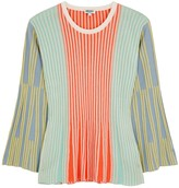 Kenzo Colour-blocked ribbed-knit jumper