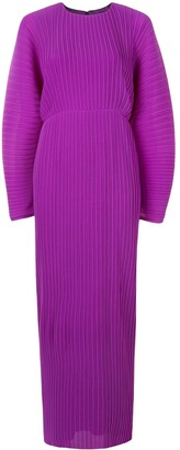 SOLACE London Maribelle pleated maxi dress