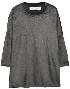 IRO Oversized Velour Top