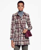 Brooks Brothers Plaid Jacquard Cotton Car Coat