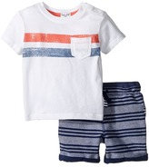 Splendid Littles Pocket Tee Striped Shorts Set Boy's Active Sets