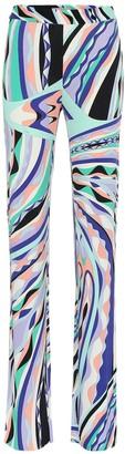 Emilio Pucci Printed silk-blend jersey pants