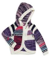 Design History Little Girl's Long Sleeve Knit Hoodie