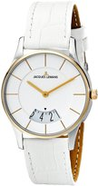 Jacques Lemans Women's 1-1747E London Analog Display Quartz White Watch