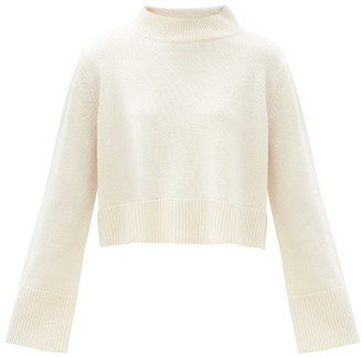 Co High-neck Cropped Wool-blend Sweater - Ivory