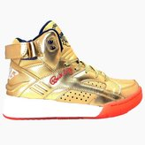 Fila Men's Ewing Eclipse Athletic Sneakers, Gold Leather, 10 M