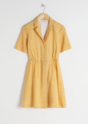 And other stories Art Deco Print Skater Dress