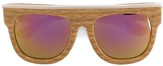 Dax Gabler 'N02' wood-effect sunglasses