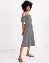 Madewell Apiece Apart Isla Mujeres Off-the-Shoulder Dress in Railroad Stripe