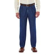Haggar Men's Work to Weekend® Classic-Fit Pleated Denim Pants