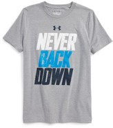 Under Armour Boy's Never Back Down T-Shirt