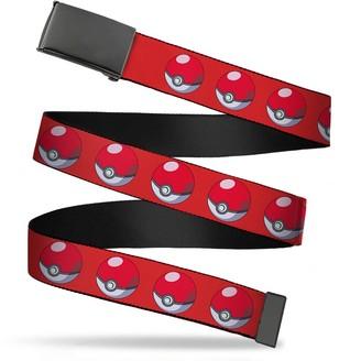 "Buckle Down Buckle-Down Men's Buckle-Down Web Belt Pokemon 1.25"""