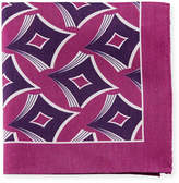 Eton Geometric-Print Linen-Blend Pocket Square