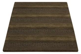 "Calvin Klein Sequoia Striped Wool Pine Green Area Rug Rug Size: Rectangle 2'6"" x 4'"