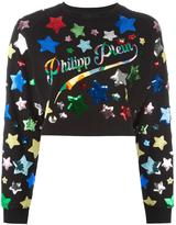 Philipp Plein sequin star embroidered sweatshirt - women - Cotton/Modal - M