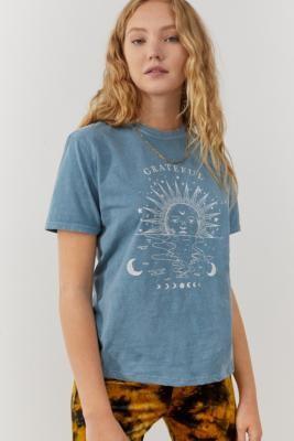 Urban Outfitters Grateful Boyfriend T-Shirt - Blue XS at