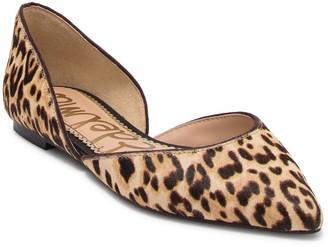 Sam Edelman Rodney Genuine Dyed Calf Hair Leopard Print d'Orsay Flat