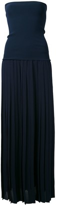 Antonio Marras Fitted Shift Strapless Dress
