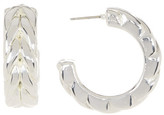 Simon Sebbag Sterling Silver Medium Braid Hoop Earrings