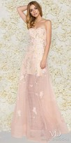 Mac Duggal Cross Hatch Embroidered Organza Sweetheart A-line Gown