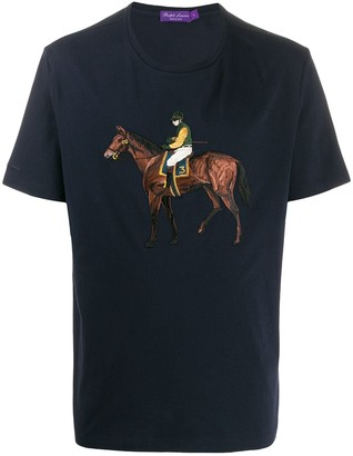 Ralph Lauren Purple Label polo player embroidered T-shirt