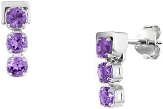 Tsai X Tsai San Shi Amethyst Stud Earrings, Sterling Silver